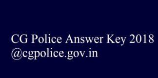 CG Police Answer Key 2018