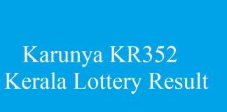 Karunya KR352 - Kerala Lottery Result #keralalottery #karunyakr352 quintdaily.com