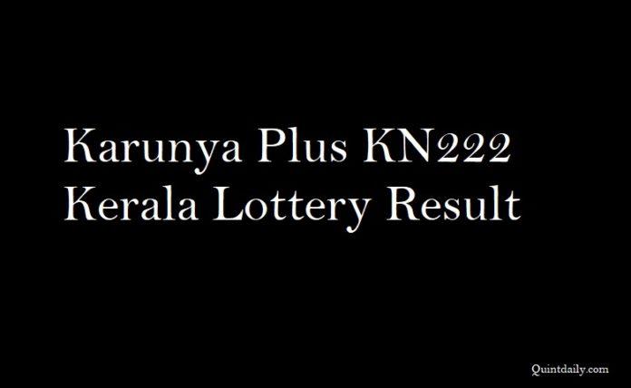 Karunya Plus KN222 Kerala Lottery Result
