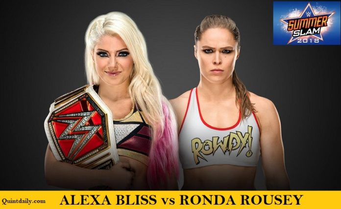 Ronda Rousey vs Alexa Bliss