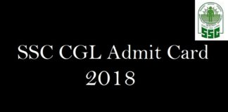 SSC CGL Admit Card 2018