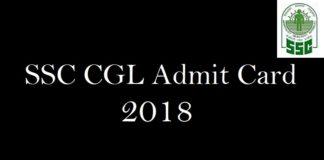 SSC CGL Admit Card 2018