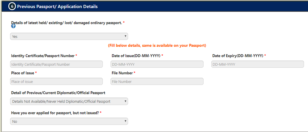 Passport Renewal India status