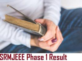 SRMJEEE Phase 1 Result 2021